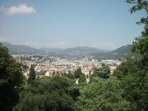Förbise staden av Nice, Frankrike Fotografering för Bildbyråer
