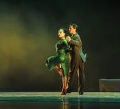 Förbise the-theidentiteten av gåta-tango dansa dramat Fotografering för Bildbyråer