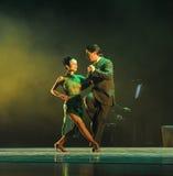 Förbise the-theidentiteten av gåta-tango dansa dramat Arkivfoton
