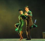 Förbise the-theidentiteten av gåta-tango dansa dramat Royaltyfri Fotografi