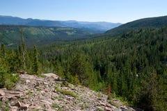 förbiser nationella over för berg den steniga parken Arkivbilder