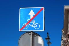 Förbjuda cykeltecknet Fotografering för Bildbyråer