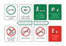Förbjuda och lösa tecken stock illustrationer