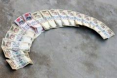 Förbjuda på Rs 500, Rs som 1000 anmärkningar är det kirurgiska slaget på skräckfinansiering, svarta pengar Royaltyfria Bilder