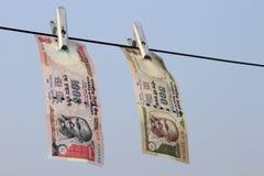 Förbjuda på Rs 500, Rs som 1000 anmärkningar är det kirurgiska slaget på skräckfinansiering, svarta pengar Arkivbild