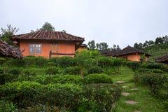 Förbjuda Rak den thailändska byn, en kinesisk bosättning i Mae Hong Son, Thailand Arkivbild