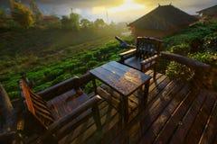Förbjuda Rak den thailändska byn, en kinesisk bosättning i Mae Hong Son, Thailand Arkivbilder