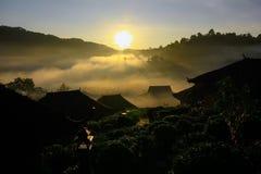 Förbjuda Rak den thailändska byn, en kinesisk bosättning i Mae Hong Son, Thailand Royaltyfri Bild