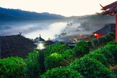 Förbjuda Rak den thailändska byn, en kinesisk bosättning i Mae Hong Son, Thailand Fotografering för Bildbyråer