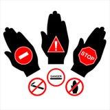 förbjuda teckenvektorn Arkivbild