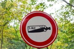 Förbjuden alkohol Fotografering för Bildbyråer