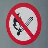 förbjuden brand Royaltyfria Bilder