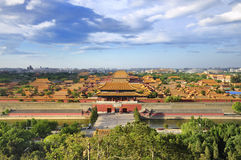 förbjuden horisont för beijing stad oklarhet Fotografering för Bildbyråer