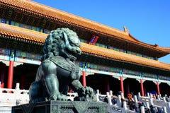 Förbjuden Lion Arkivbilder