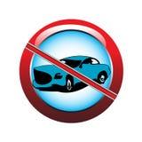 förbjuden parkering Arkivfoto