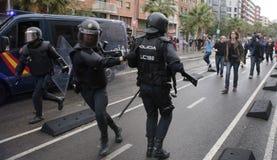 Förbjuden pro-självständighetfolkomröstningdag i barcelona Arkivfoto