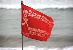 förbjuden rund simning för område Royaltyfri Fotografi