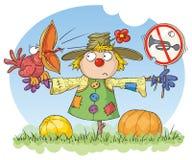 förbjuden scarecrow för oväsen royaltyfri illustrationer