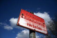 förbjuden skateboarding Fotografering för Bildbyråer