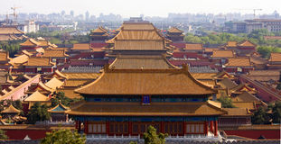 förbjuden slott s för beijing porslinstad kejsare Arkivbilder