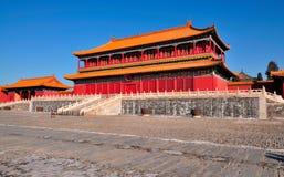 Förbjuden stad, Beijing, Kina Royaltyfria Bilder