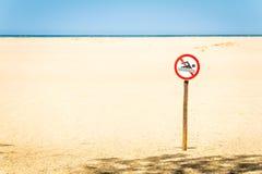 Förbjuden strand i Sydafrika arkivfoton