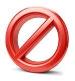 förbjudet tecken 3d Arkivbild