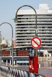 Förbjudet tecken för cykel Fotografering för Bildbyråer