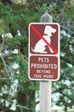 Förbjudet tecken för husdjur Royaltyfria Bilder