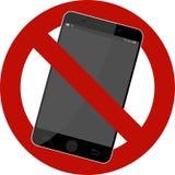 Förbjudet tecken för mobiltelefon Arkivfoton