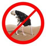 Förbjudit rött teckenbegrepp för struts uppförande arkivfoton