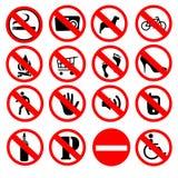 Förbjudna tecken Arkivfoton