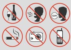 förbjudna tecken också vektor för coreldrawillustration Royaltyfria Bilder