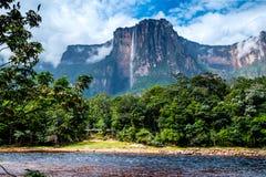 Förbluffa Angel Falls, Venezuela Arkivbilder