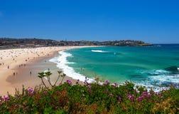 Förbluffa den Bondi stranden i Sydney Royaltyfria Bilder