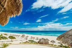 Förbluffa den Cancun stranden Royaltyfri Fotografi