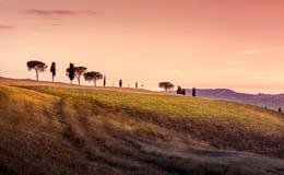 Förbluffa det Tuscan landskapet Arkivbild