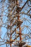 Förbluffa konstruktion av telekommunikationradiomitten i Pripyat, Tjernobyl fotografering för bildbyråer