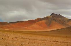Förbluffa landskapet av Salvador Dali Desert i den Eduardo Avaroa Andean Fauna National reserven, Sur Lipez, Bolivia royaltyfri fotografi