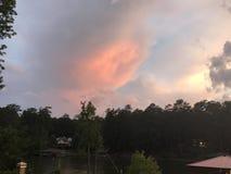 Förbluffa moln arkivbilder