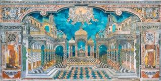 Förbluffa perspektivmosaiken i kyrkan för Immacolata Concezione av för den Chiesa för obefläckad befruktning dellen 'Capo al i Pa royaltyfria foton