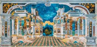 Förbluffa perspektivmosaiken i kyrkan för Immacolata Concezione av för den Chiesa för obefläckad befruktning dellen 'Capo al i Pa royaltyfri bild