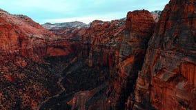Förbluffa sikt av den Zion nationalparken, Utah arkivbild