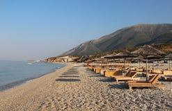 Förbluffa stränder av Dhermi, Albanien Royaltyfria Bilder