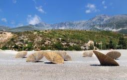 Förbluffa stränder av Dhermi, Albanien Arkivfoto