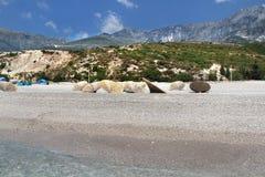 Förbluffa stränder av Dhermi, Albanien Arkivfoton
