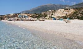Förbluffa stränder av Dhermi, Albanien Royaltyfri Bild