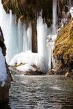 förbluffa vinter för armenia nagornvattenfall Royaltyfri Fotografi