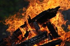 förbränning Arkivfoton