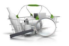 Förbrukningsanalys royaltyfri illustrationer